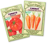 Select Organic seed packets