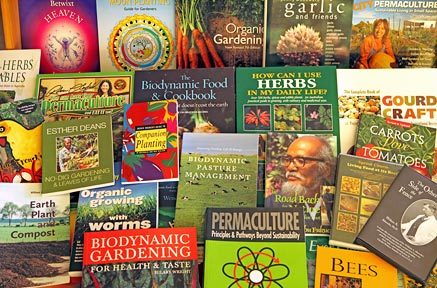 A large range of gardening books available.
