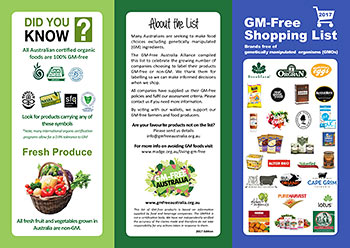 GM-Free Shopping List 2017